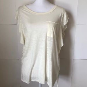 Free People We The Free flutter sleeve top Small